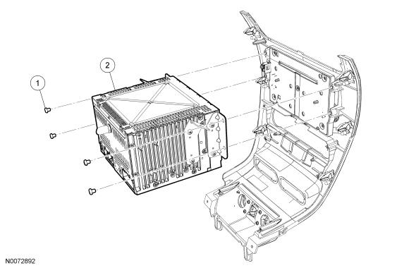 Item Part Number Description 1 W790110 S Audio Front Control Module